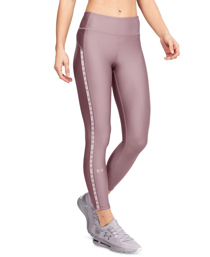 Under Armour - HeatGear® Logo-Stripe Leggings