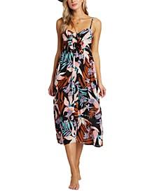 Juniors' Twist It Printed Midi Dress