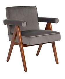 Suri Mid Century Arm Chair In Brown