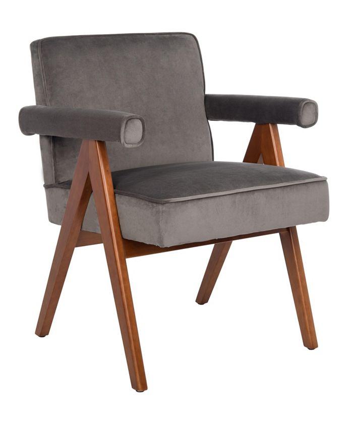Furniture - Suri Mid Century Arm Chair In Brown