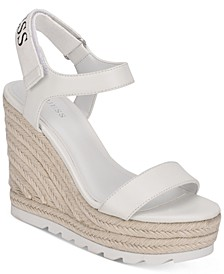 Women's Golden Espadrille Wedge Sandals