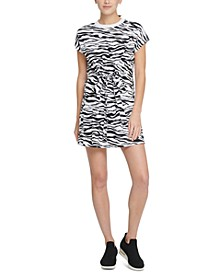 Sport Cotton Zebra-Print T-Shirt Dress