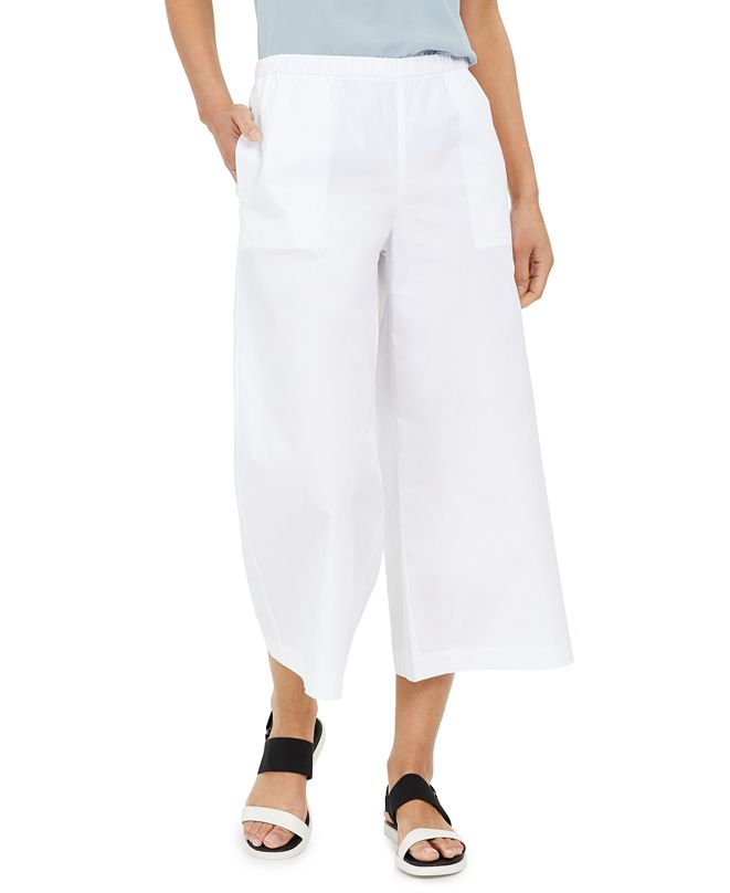Eileen Fisher Wide-Leg Cropped Pants
