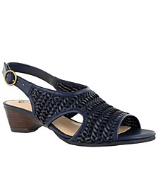 Justine II Women's Woven Wedge Sandals