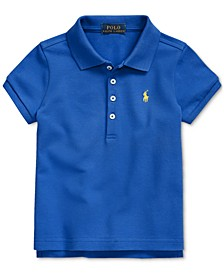 Toddler Girls Stretch Piqué Polo Shirt