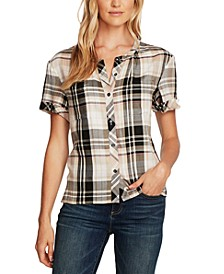 Plaid Short-Sleeve Shirt