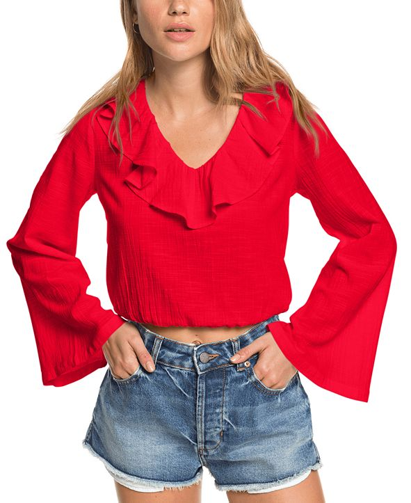 Roxy Juniors' Paradise Is You Cotton Crop Top