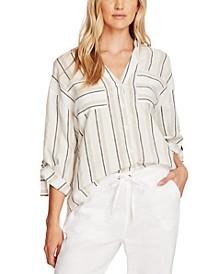 Striped Roll-Tab Shirt