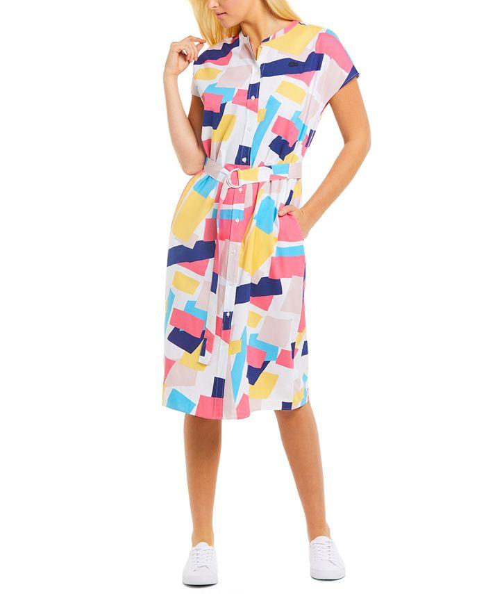 Lacoste - Printed Shirt Dress