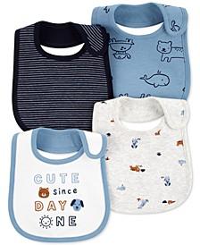 Baby Boys 4-Pk. Animal Bibs
