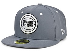 Detroit Pistons Storm Black White Logo 59FIFTY Cap