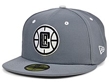 Los Angeles Clippers Storm Black White Logo 59FIFTY Cap