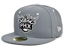 Phoenix Suns Storm Black White Logo 59FIFTY Cap