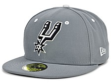 San Antonio Spurs Storm Black White Logo 59FIFTY Cap