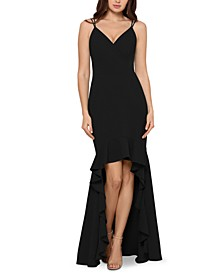 High-Low Flounce Gown