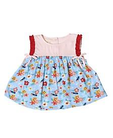 Toddler Girls Sleeveless Hibiscus Top