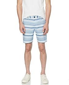 "Men's Horizontal Stripe Slim Fit 8"" Short"