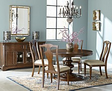 Orle Round Dining 5 pc Set  (Round Dining Table & 4 Side Chairs)