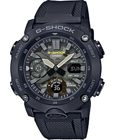Men's Analog-Digital Black Resin Strap Watch 48.7mm