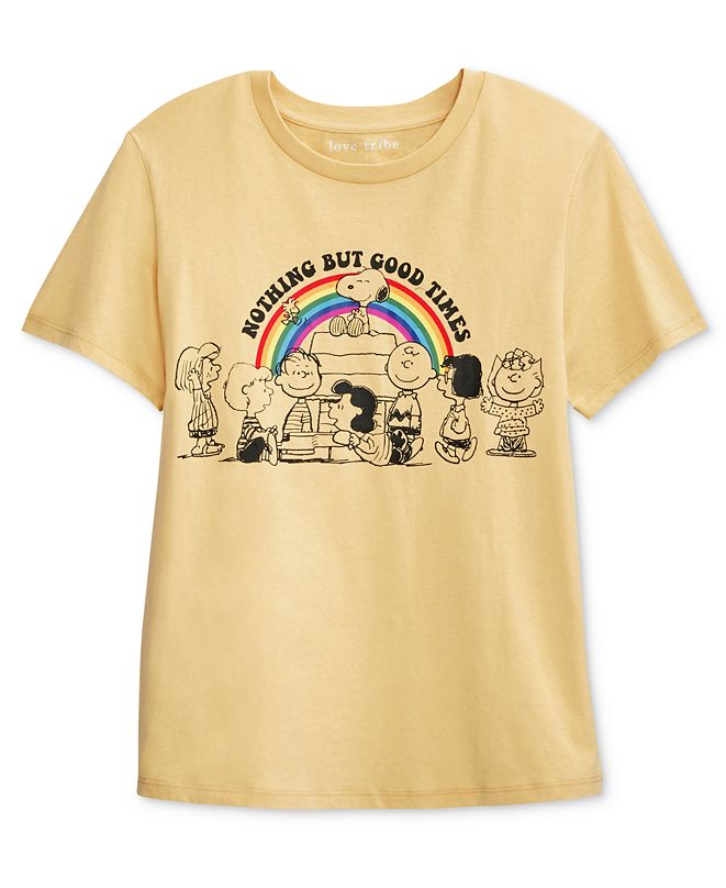 Peanuts Juniors' Nothing But Good Times Graphic T-Shirt