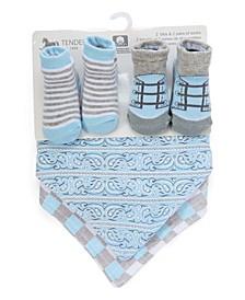 4 Piece Bibs and Socks Set