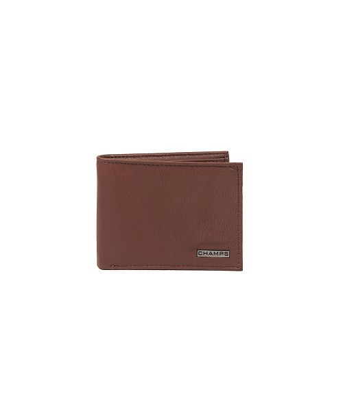 CHAMPS Leather RFID Top-Wing Wallet in Gift Box