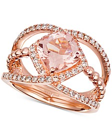Peach Morganite (1-5/8 ct. t.w.) & Diamond (3/8 ct. t.w.) in 14k Rose Gold