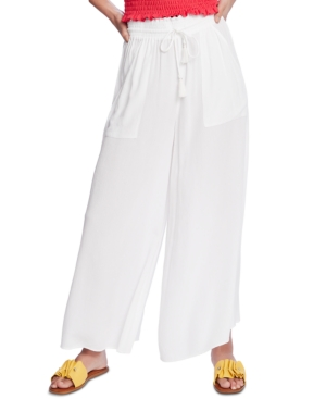 Image of 1.state Crinkled Wide-Leg Pants