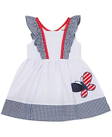 Baby Girls Butterfly Seersucker Dress