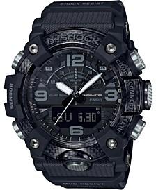 Men's Analog-Digital Burton Mudmaster Black Resin Strap Watch 53.1mm, A Limited Edition