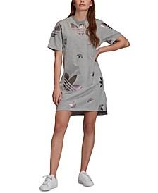 adidas Women's Originals Cotton Metallic-Logo Dress