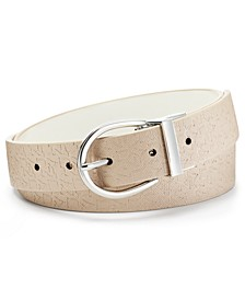 Logo-Embossed-to-Smooth Reversible Belt