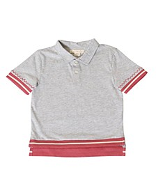 Toddler Boys Hi-Low Jersey Polo Shirt