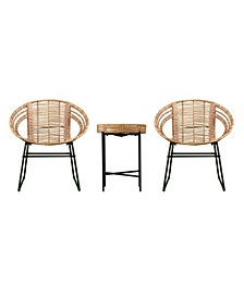 Marley Indoor or Outdoor 3 Piece Bistro Set
