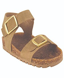 Baby Girls Suede Double Strap Sandal