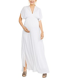 Splendid Maternity Smocked Maxi Dress