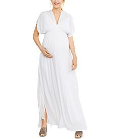 Splendid Maternity Smocked Maxi Dress