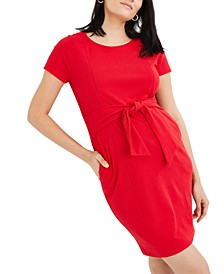 Maternity Jacquard Nursing Dress