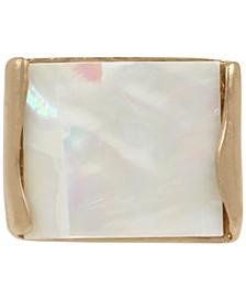Gold-Tone Geometric Statement Ring