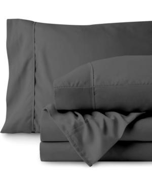 Bare Home Kids Sheet Set, Twin Bedding In Dark Gray