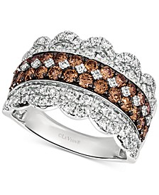 20th Anniversary Diamond Jubilee Crown Ring (2 ct. t.w.) in 14k White Gold, Exclusively at Macy's