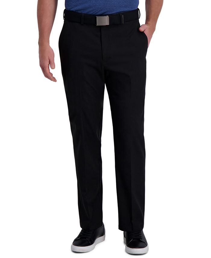 Haggar - Men's Cool Right Classic-Fit 4-Way Stretch Performance Dress Pants