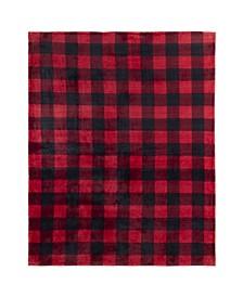 Inc Throw Flannel Printed Ribbed Plaid