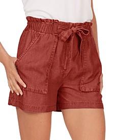 Tie-Waist Paperbag Shorts