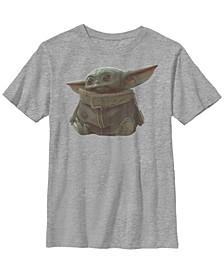 Star Wars The Mandalorian Big Boys The Child Portrait Short Sleeve T-shirt