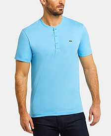 Men's Regular Fit Short Sleeve Pima Cotton Henley T-Shirt