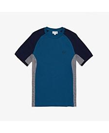 Men's Motion Regular Fit Short Sleeve Colorblock Cotton Pique Performance T-Shirt