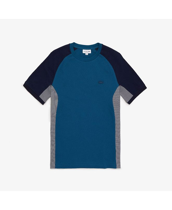 Lacoste Men's Motion Regular Fit Short Sleeve Colorblock Cotton Pique Performance T-Shirt