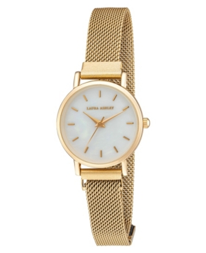 Women's Sleek Gold Tone Alloy Mesh Magnet Bracelet Watch 29mm