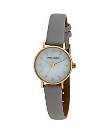Women's Mini Slim Clean Gray Polyurethane Strap Watch 26mm